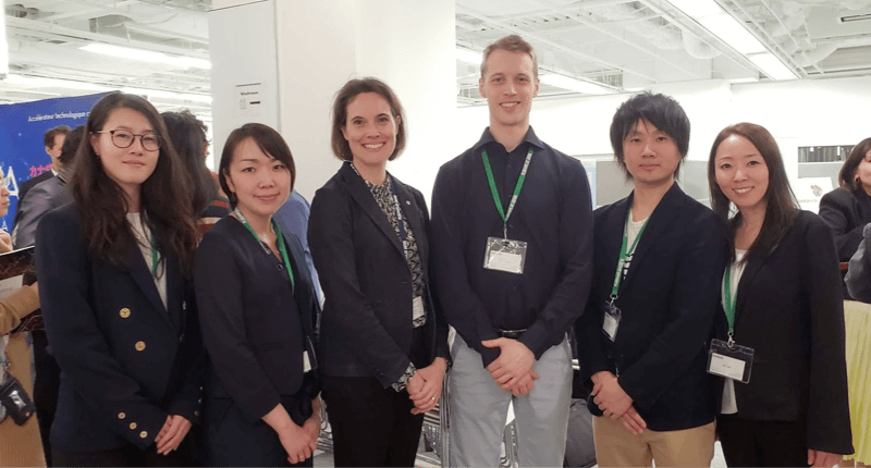 Team Japan with Senior Trade Commissioner of the Canadian Embassy in Tokyo Julie Poirier
