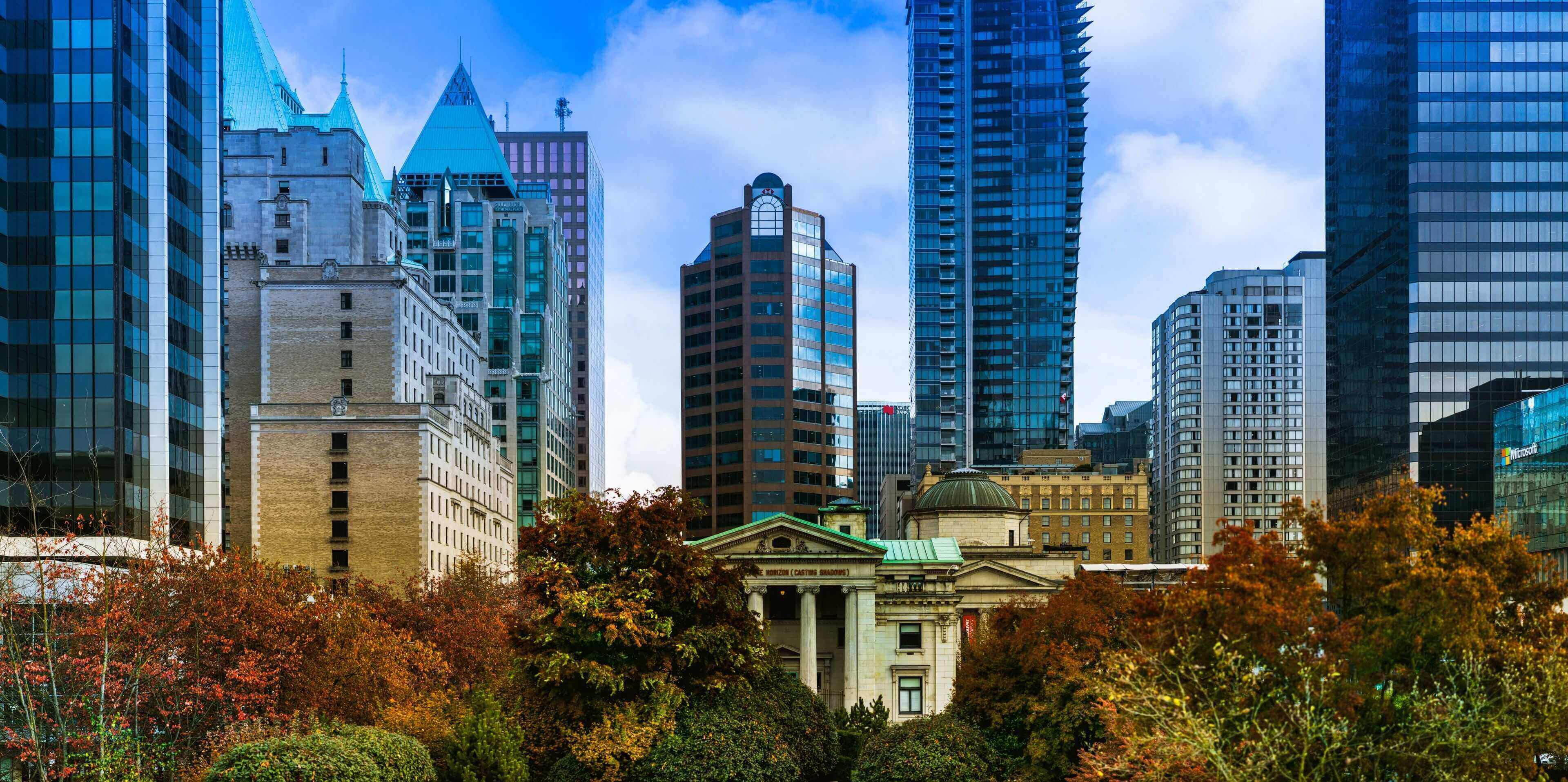 The beautiful scenery of downtown Vancouver