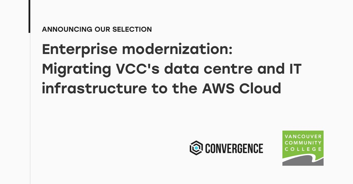 Convergence Awarded VCC Datacenter Cloud Migration Contract