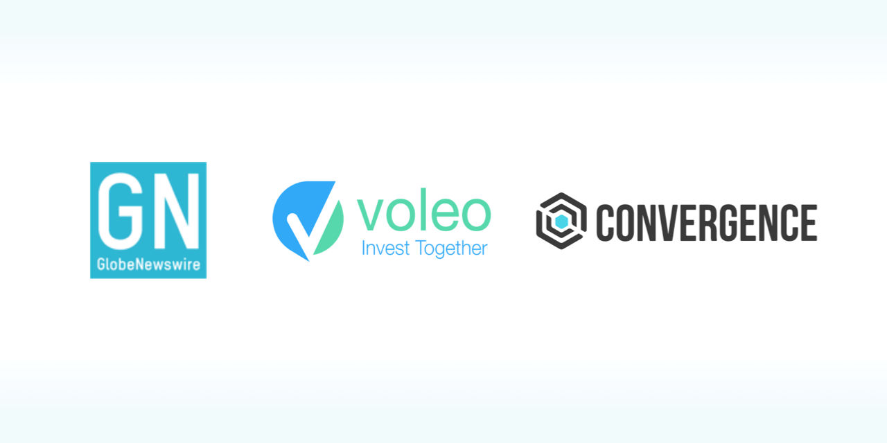 Logos of GlobeNewswire, Voleo, and Convergence